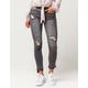 INDIGO REIGN Step Hem Womens Skinny Jeans