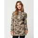 POLLY & ESTHER Destructed Camo Womens Hoodie