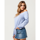 IVY & MAIN Tie Front Womens Off The Shoulder Top