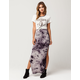 SKY AND SPARROW Tie Dye Maxi Skirt