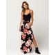 FULL TILT Floral Slit Womens Maxi Skirt