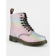DR. MARTENS Rainbow Glitter Pascal Womens Boots