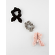 FULL TILT 3 Pack Velvet Bunny Scrunchies