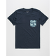 BLUE CROWN Palms Boys Pocket Tee