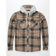 JETTY Flint Mens Hooded Flannel Shirt