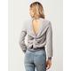 WHITE FAWN Twist Back Womens Sweatshirt
