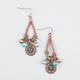 FULL TILT Medallion Stone Cord Drop Earrings