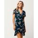 IVY & MAIN Floral Ruffle Wrap Dress