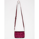 VIOLET RAY Cori Velvet Crossbody Bag