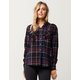 SKY AND SPARROW Womens Hooded Flannel Shirt