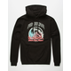 PINK DOLPHIN Waves Over Flames Mens Hoodie