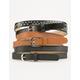 3 Pack Skinny/Stud Belt