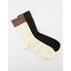 2 Pack Glitter Cuff Socks