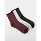 3 Pack Glitter Stripe Socks