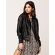 IVY & MAIN Faux Leather Womens Moto Jacket