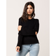 RAZZLE DAZZLE Elbow Cutout Womens Sweater