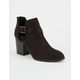 DELICIOUS Chopout Womens Heeled Booties