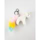 Unicorn Poof Tail Keychain