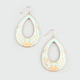 FULL TILT Epoxy Floral Teardrop Earrings