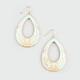 FULL TILT Epoxy Floral Teardrop Earrings