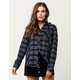 METAL MULISHA Speed Womens Hooded Flannel Shirt