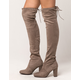 DELICIOUS Heeled Womens Over The Knee Boots