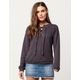 BLU PEPPER Lace Up Grommet Womens Sweater