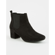 QUPID Faux Suede Womens Chelsea Boots