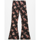SKY AND SPARROW Floral Girls Flare Pants