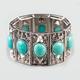 FULL TILT Turquoise Stone Stretch Cuff Bracelet