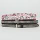 2 Pack Stud & Floral Skinny Belts