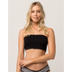 Smocked Lettuce Edge Black Bandeau