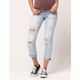 SKY AND SPARROW Ripped Womens Mom Jeans