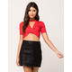 JOLIE Ruched Womens Choker Top