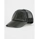Faux Leather Womens Trucker Hat