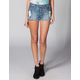 HIPPIE LAUNDRY Womens Highwaisted Cutoff Denim Shorts