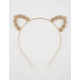 FULL TILT Flower Rhinestone Cat Ear Headband