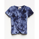 SKY AND SPARROW Tie Dye Knot Front Girls Tee