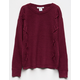 WOVEN HEART Lace Up Inset Girls Sweater