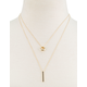 FULL TILT Circle & Bar Layered Necklace