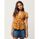PATRONS OF PEACE Floral Womens Wrap Top