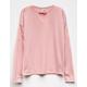 GOOD LUCK GIRL Velvet Trim Girls Choker Sweatshirt