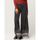 SKY AND SPARROW Border Print Womens Wrap Wide Leg Pants
