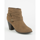 SODA Double Strap Womens Booties