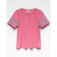 BOZZOLO Ribbed Girls Football Tee