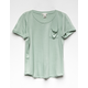 BOZZOLO Girls Slouch Pocket Tee
