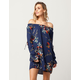 SKY AND SPARROW Tie Sleeve Off The Shoulder Dress