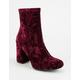 MIA GIRL Crushed Velvet Womens Boots