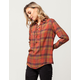 SKY AND SPARROW Lace Up Womens Plaid Shirt