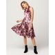 COCO & JAIMESON Floral Velvet Midi Dress